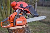 foto of bohemia  - view equipment woodcutter South Bohemia Czech Republic - JPG