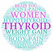 foto of fibromyalgia  - Circle shaped thyroid word cloud on a white background - JPG