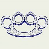 picture of brass knuckles  - Brass knuckles - JPG