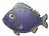 stock photo of dory  - A 3D sea fish on a white background - JPG