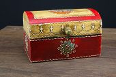picture of jewel-case  - colorful wooden jewel box ethnic style - JPG