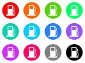 foto of petrol  - petrol vector icons set - JPG