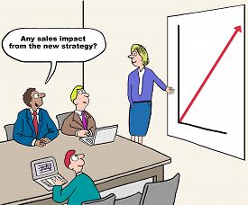 image of going out business sale  - Cartoon of business meeting - JPG