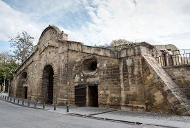foto of gate  - Famous historical building landmark of Famagusta Gate in the city of Nicosia in Cyprus - JPG