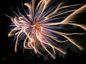 picture of guy fawks  - fireworks display on guy fawkes night celebration - JPG