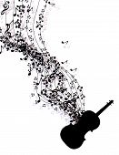Постер, плакат: Easy To Edit Vector Illustration Of Wavy Music Notes Banner