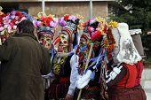 stock photo of mummer  - Bulgaria mummers parade 2008 - JPG