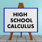 High School Calculus Concept poster