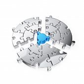 Puzzle Jigsaw Ring poster