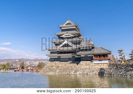 Matsumoto castle against blue sky