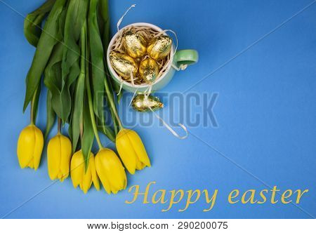 Easter Eggs Happy Easter Card