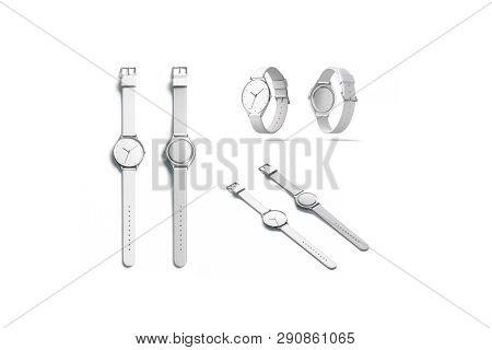 Blank White Watch Wristlet Mockup
