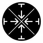 Circular Crosshair Icon. Simple Illustration Of Circular Crosshair Vector Icon For Web Design Isolat poster