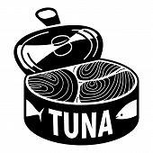 Open Tuna Can Icon. Simple Illustration Of Open Tuna Can Vector Icon For Web Design Isolated On Whit poster