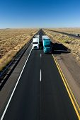picture of 18 wheeler  - trucks on arizona interstate - JPG