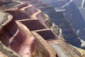 Close Up View Of Layes Of The Super Pit Mine In Kalgoorlie poster