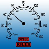 stock photo of speedo  - illustration showing speeometer and text speed kills - JPG