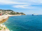 Historic Port Area Of Nice. Embankment And Old Port Of Nice, France poster