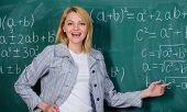 School. Home Schooling. Happy Woman. Back To School. Teachers Day. Woman In Classroom. Teacher On Le poster