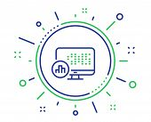 Report Statistics Line Icon. Column Graph Sign. Growth Diagram Symbol. Quality Design Elements. Tech poster