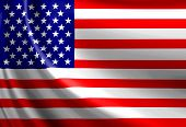 picture of waving american flag  - American flag waving in the wind with some folds - JPG