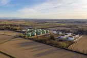 Aerial View Of Oil Storage With A Storage Capacity Of Approximately 220,000 Cubic Meters, Storage An poster