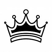 Crown Logo, Crown Icon Vector In Modern Flat Style For Web, Graphic And Mobile Design. Crown Icon Ve poster