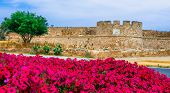 Landmarks of northen Cyprus - ancient  Famagusta town, view of citadel poster