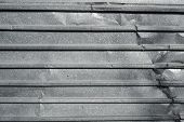 Corrugated Metal Texture Surface Background. Metal Profile Background. Old Metal. Damaged Metal poster