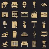 Accommodation Icons Set. Simple Set Of 25 Accommodation Vector Icons For Web For Any Design poster