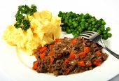 stock photo of ground-beef  - A meal of minced beef  - JPG