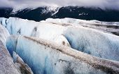 picture of crevasse  - The Taku Glacial crevasse in Juneau Alaska - JPG