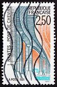 Postage Stamp France 1991 Chevire Bridge, Nantes