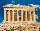 picture of olympic stadium construction  - Exterior of Parthenon temple in Acropolis Athens Greece - JPG