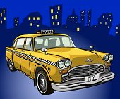 picture of street-rod  - taxi cab - JPG