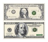 picture of two dollar bill  - An illustration of two detailed stylized drawings Bills - JPG