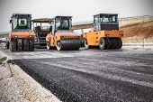 stock photo of vibrator  - Road Construction - JPG