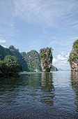 picture of james bond island  - James Bond Island a tropical island at Phuket Thailand - JPG