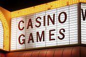 image of las vegas casino  - Casino Games Sign in Las Vegas Nevada USA - JPG