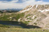 foto of beartooth  - view of an alpine lake along the Beartooth Highway - JPG