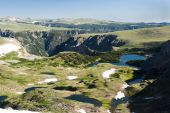 stock photo of beartooth  - view of an alpine lake along the Beartooth Highway - JPG