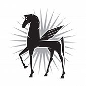 stock photo of perseus  - Illustration of Pegasus the mythological flying horse - JPG