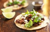 pic of tacos  - authentic mexican tacos with beef - JPG