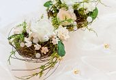 stock photo of 50th  - Festive table decoration in creamy white to 50th wedding - JPG