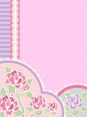 picture of frilly  - IIlustration Featuring Frilly Corner Borders with a Shabby Chic Design - JPG