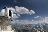 picture of breathtaking  - breathtaking view of pyrenees from pic du midi in france with observatory tower - JPG
