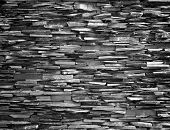 picture of fortified wall  - Stone wall background black wall construction stronger - JPG