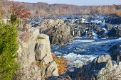 foto of virginia  - Great Falls National Park on Potomac River in Autumn  - JPG