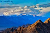 picture of jammu kashmir  - Himalayas mountains on sunset - JPG
