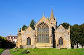 stock photo of church-of-england  - St Lawrence Church and churchyard Evesham Worcestershire England UK Western Europe - JPG